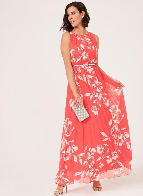 Jessica Howard - Floral Print Maxi Dress, Orange, hi-res
